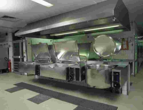 Stainless Steel Commercial Kitchen with Canopy