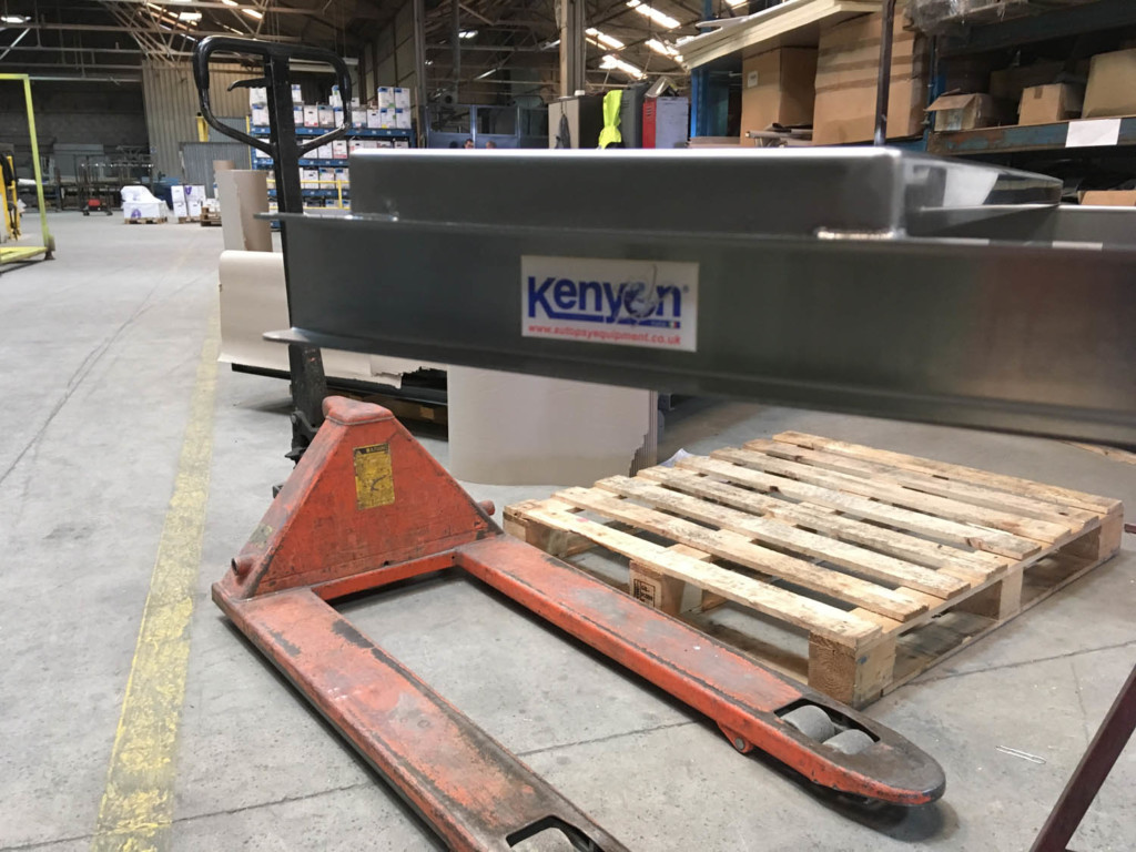 Autopsy Table Platform being made in 316 Stainless Steel by Kenyon Stainless Steel Fabrications. Bespoke Stainless Steel fabrication and manufacture.