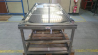 Washing Tables manufactured and pressed from 316 Stainless Steel. Fabricated for a Mosque in Sunderland
