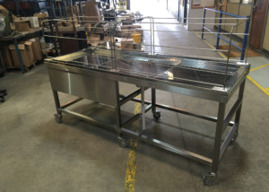 Burnley Mosque Stainless Steel Fabrication project 800mm Ghusal Table